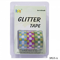 Glitter Tapes pack of 3 (3PGT-A)