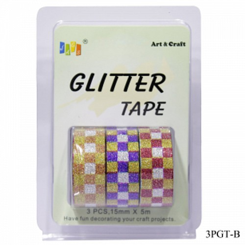 Glitter Tapes pack of 3 (3PGT-B)