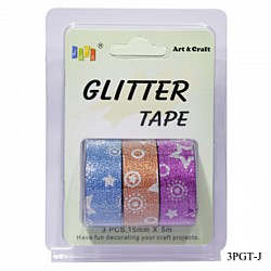Glitter Tapes pack of 3 (3PGT-J)