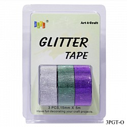 Glitter Tapes pack of 3 (3PGT-O)
