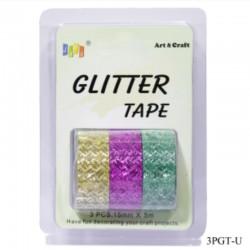 Glitter Tapes pack of 3 (3PGT-U)