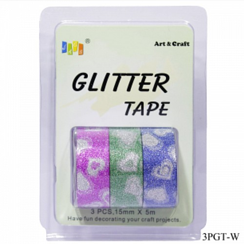 Glitter Tapes pack of 3 (3PGT-W)