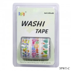 Washi Tapes pack of 3 (3PWT-C)