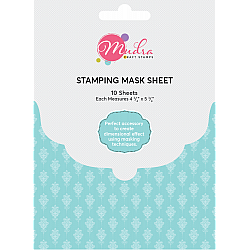 Mudra Stamping Mask Sheet (Pack of 10 sheets) - Masking sheets