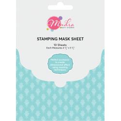 Mudra Stamping Mask Sheet (Pack of 10 sheets) - Masking sheets