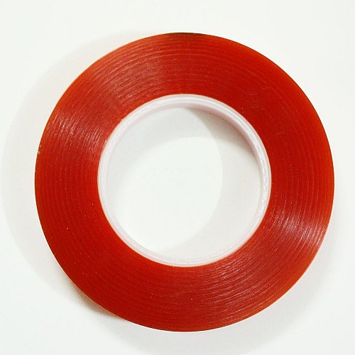 Red Tacky double sided tape (1/2 inch or 12mm by 50 mts)