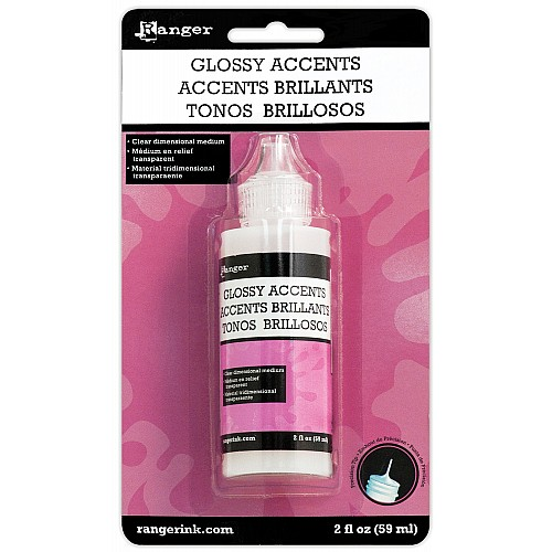 Ranger Inkessentials Glossy Accents (Glue Dimensional Adhesive) - 2oz by Tim Holtz