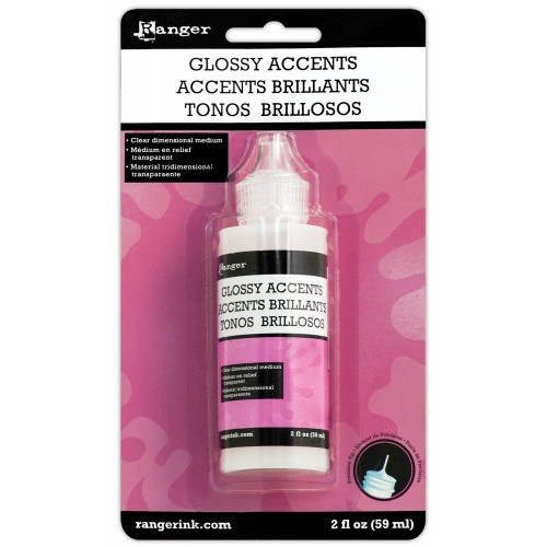 Ranger Inkessentials Glossy Accent (Glue Dimensional Adhesive) - 2oz