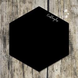 CrafTangles Black Acrylic Coasters (4 pcs) - Hexagon