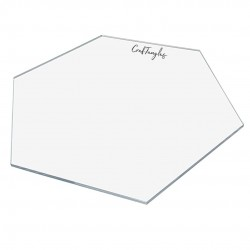 CrafTangles Clear Acrylic Coasters (4 pcs) - Hexagon