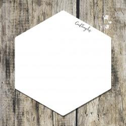 CrafTangles White Acrylic Coasters (4 pcs) - Hexagon