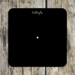 CrafTangles Black Acrylic Clock Base - Rounded Square