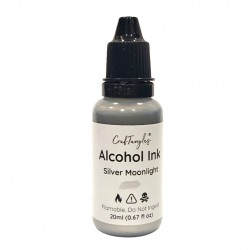CrafTangles Metallic Alcohol Inks (20 ml) - Silver Moonlight