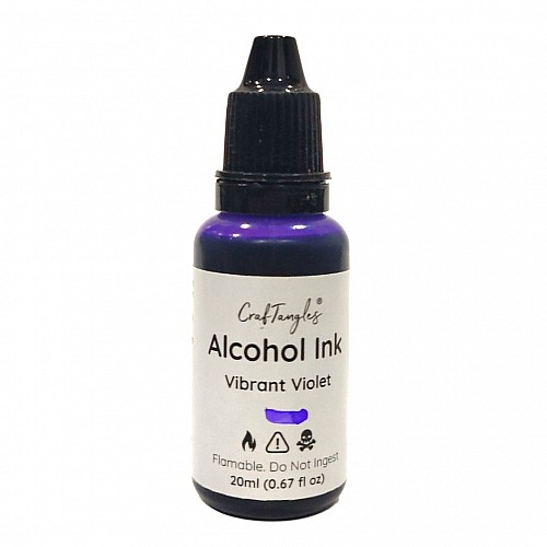 CrafTangles Alcohol Inks (20 ml) - Vibrant Violet