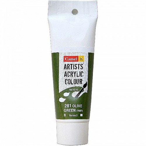 Camel Artist Acrylic Colour 120ml Tube - Olive Green