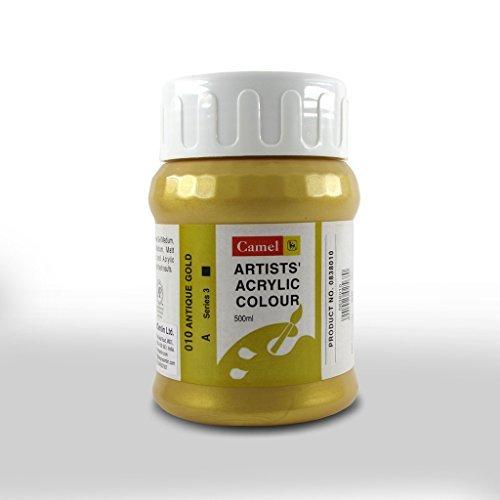 Camel Artist Acrylic Colour 500ml Jar - Antique Gold