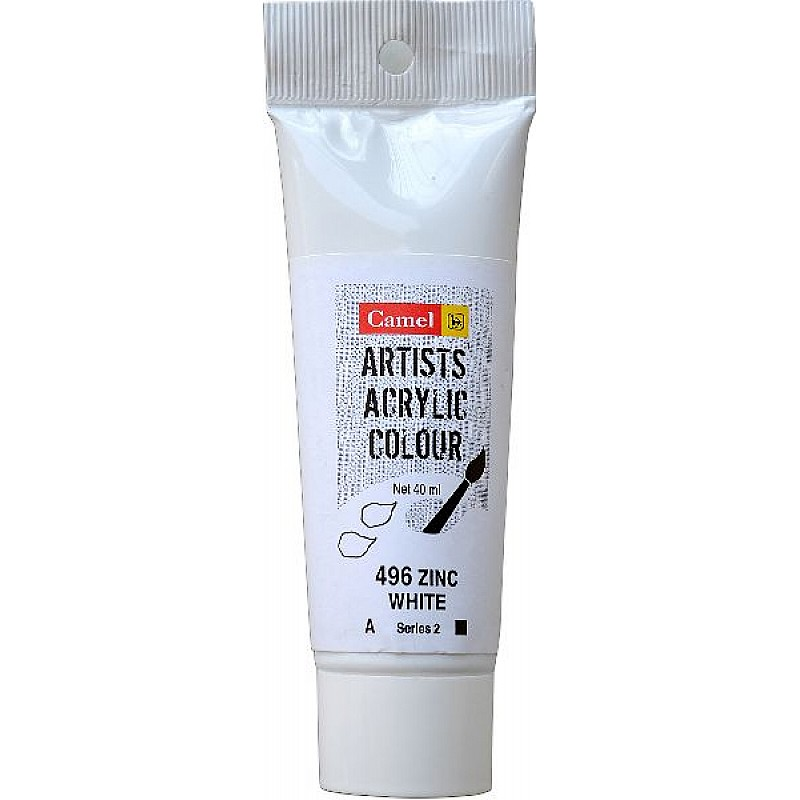 Buy Camel Artist Acrylic Colour 40ml Tube Zinc White