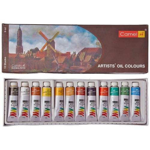 Camel Artist's Oil Colour Set of 12 (20 ml tubes)