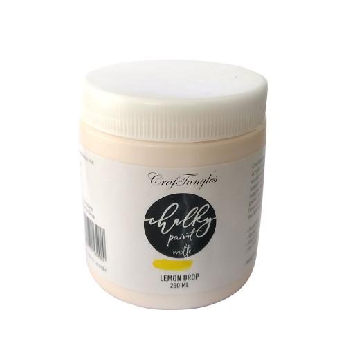 CrafTangles Chalky Paint - Lemon Drop (250 ml)