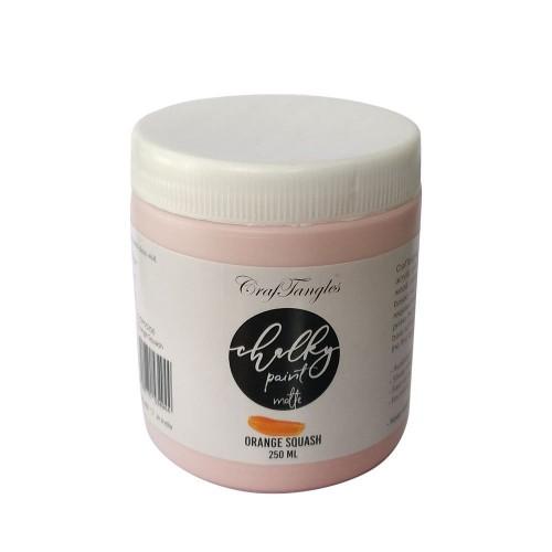 CrafTangles Chalky Paint - Orange Squash (250 ml)