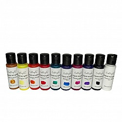 CrafTangles Liquid Acrylics / Acrylic Inks - Extended Colours  (Set of 10 colours)