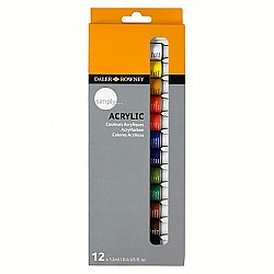 Daler Rowney Simply Acrylic Color Set - 12 Colors