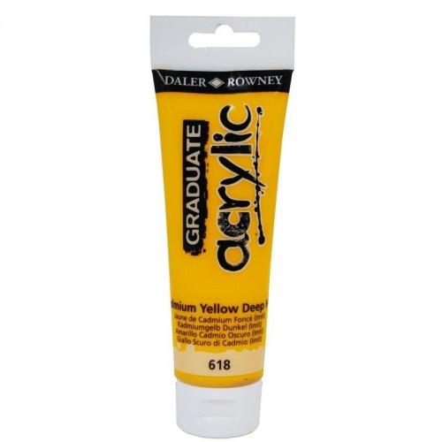 Daler Rowney Graduate Acrylics Tube - Cadmium Yellow Hue