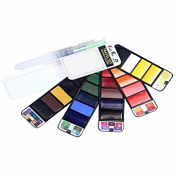 Hakims Watercolors  travelling Pan (Set of 25)