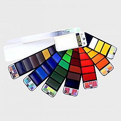 Hakims Watercolors  travelling Pan (Set of 42)