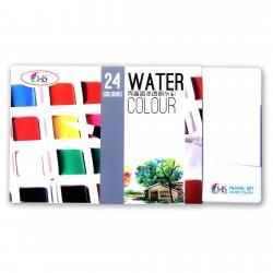 Hakims Watercolors - 24 Colors