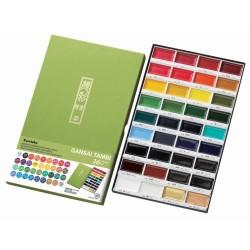 Zig Kuretake Gansai Tambi 36 Color Painting Set
