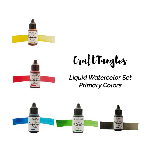 CrafTangles Liquid Watercolor Ink Set - Primary Colors
