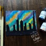 CrafTangles liquid watercolor (15 ml) - Autumn Blaze