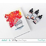 CrafTangles liquid watercolor (15 ml) - Red Paprika