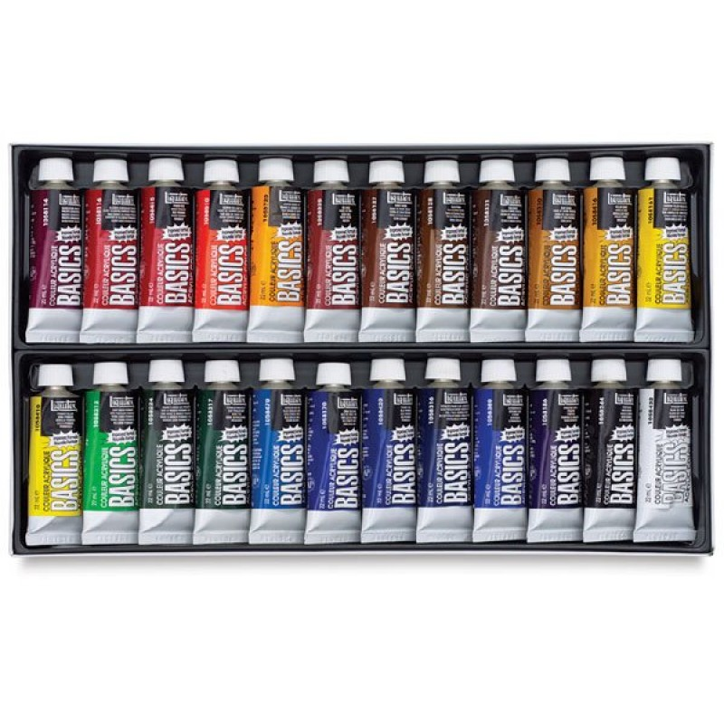 Buy liquitex basics acrylic color set pack of 24 online for Best paint supplies