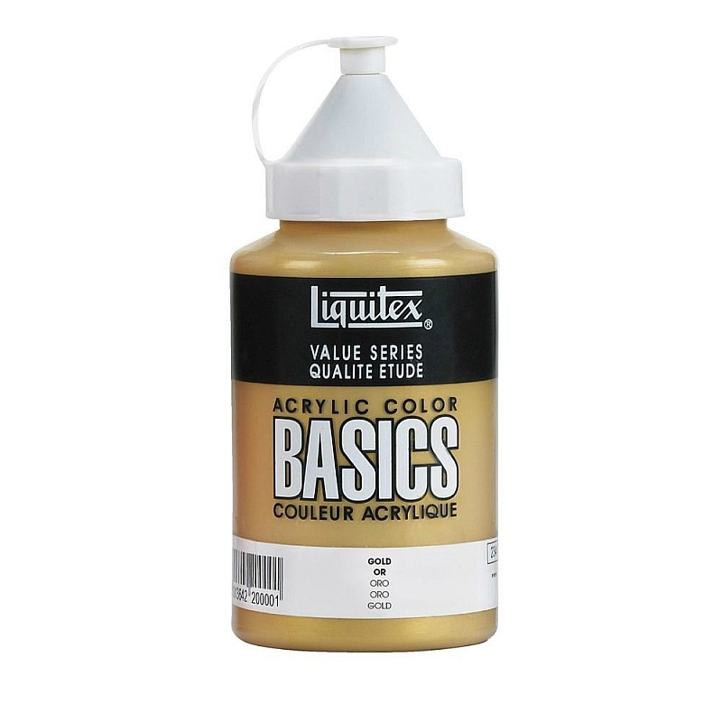 Buy liquitex basics acrylic paint gold 400ml online in for Basic acrylic paint colors to have