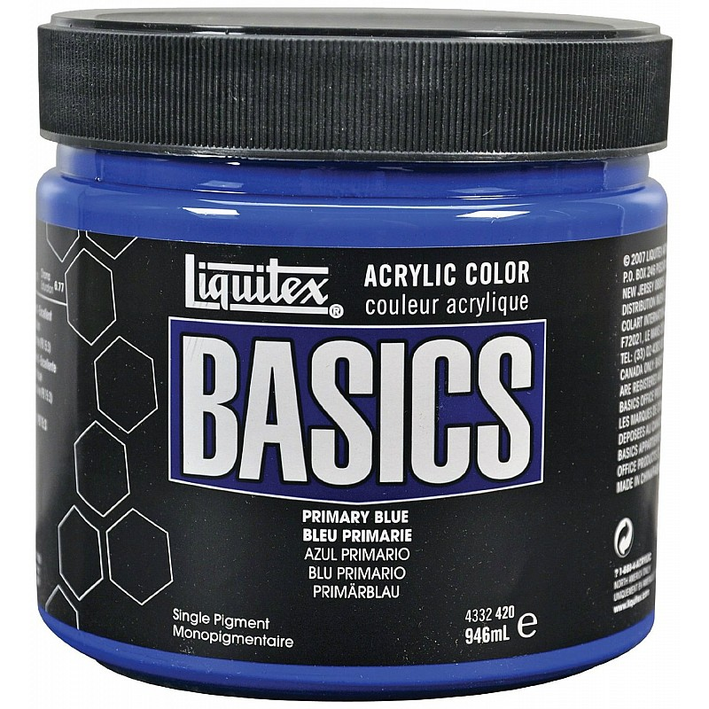 Buy Liquitex Basics Acrylic Paint Primary Blue 946ml Online In India At Best Prices At Hndmd