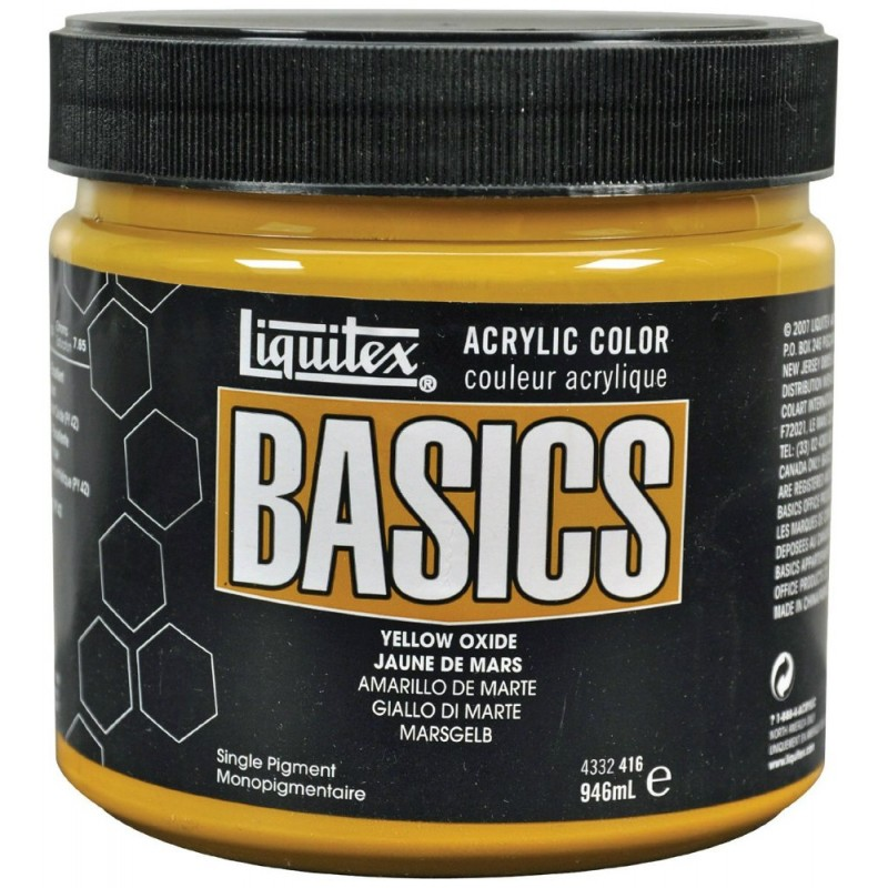 Buy Liquitex Basics Acrylic Paint Yellow Oxide 946ml Online In India At Best Prices At Hndmd