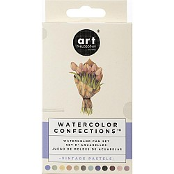 Art Philosophy Prima Watercolor Confections Watercolor Pans 12/Pkg - Vintage Pastel