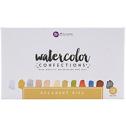 Art Philosophy Prima Watercolor Confections Watercolor Pans 12/Pkg - Decadent Pies