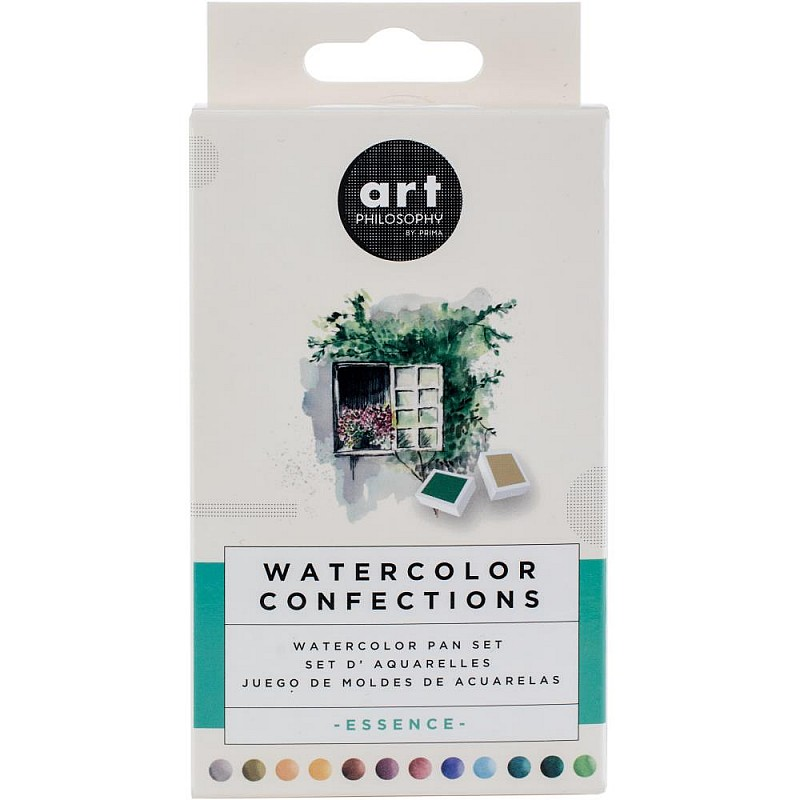 1 Shimmering Lights Prima Marketing Watercolor Confections Watercolor Pans 12//