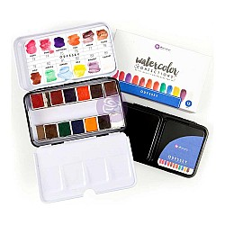 Art Philosophy Prima Watercolor Confections Watercolor Pans 12/Pkg - Odyssey