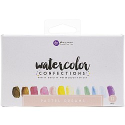 Art Philosophy Prima Watercolor Confections Watercolor Pans 12/Pkg - Pastel Dreams