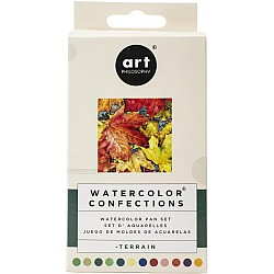 Art Philosophy Prima Watercolor Confections Watercolor Pans 12/Pkg - Terrian