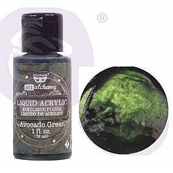 Prima Finnabair Art Alchemy Liquid Acrylic Paint 1 Fluid Ounce - Avocado Green