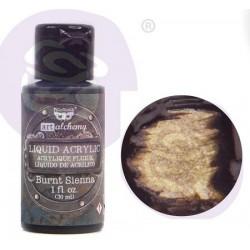 Prima Finnabair Art Alchemy Liquid Acrylic Paint 1 Fluid Ounce - Burnt Sienna