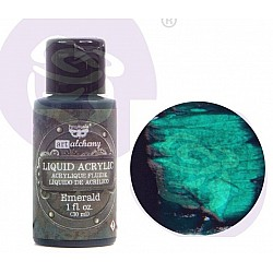 Prima Finnabair Art Alchemy Liquid Acrylic Paint 1 Fluid Ounce - Emerald