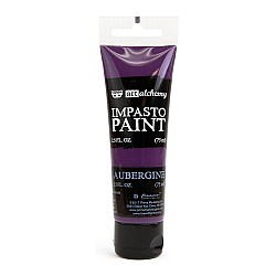 Prima Finnabair Art Alchemy Impasto Paint - Aubergine (2.5 Fluid Ounces)