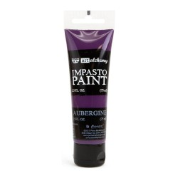 Prima Finnabair Art Alchemy Impasto Paint - Aubergine (2.5 Fluid Ounces)