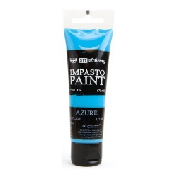 Prima Finnabair Art Alchemy Impasto Paint - Azure (2.5 Fluid Ounces)